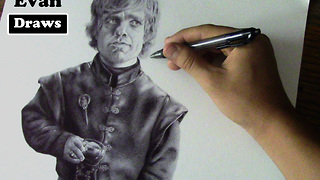 Hyperrealism time lapse drawing of Game of Thrones character  - Video