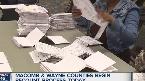 Presidential recount in Wayne and Macomb counties