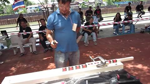 1st place winner for the Thailand's Knife Cutting Competition