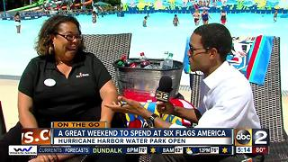 Hurricane Harbor Water Park open at Six Flags America - Video