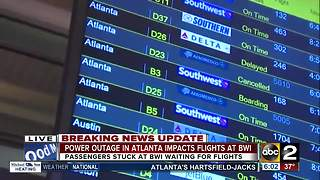 Power restored at Atlanta airport, outage impacted flights at BWI - Video