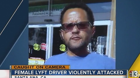 WATCH: Lyft driver attacked over parking spot