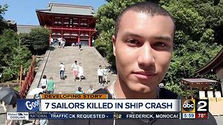 Halethorpe man among 7 killed in ship crash - Video
