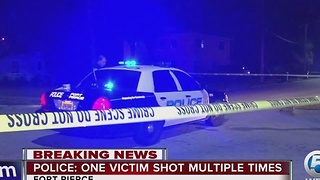 Police: One victim shot multiple times - Video