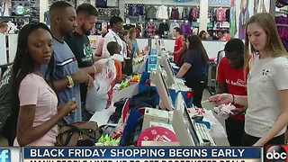 Black Friday shopping begins early for some shoppers - Video
