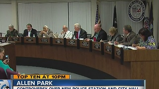 Controversy over new Allen Park police station and city hall - Video