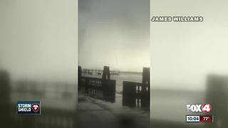 Waterspout reported near downtown Fort Myers Monday afternoon - Video