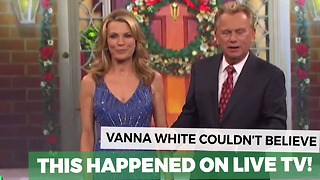 Vanna White's Silly Wardrobe Malfunction Has Everyone Giggling - Video