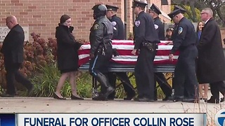 Officer Collin Rose funeral - Video