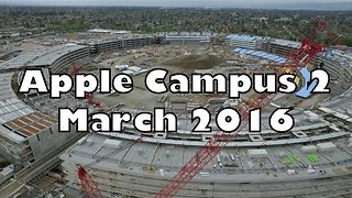Drone Footage as Construction Begins on Apple Campus 2 - Video