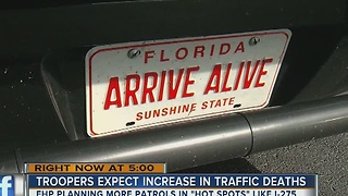 Troopers expect an increase in traffic deaths - Video
