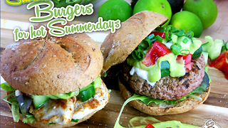 Deliciously light and fresh Summer burger recipes - Video