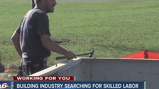 Building industry searching for skilled labor - Video