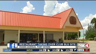 Former Club Blue site to reopen as restaurant