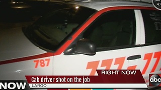Taxi cab driver shot on the job - Video
