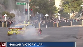 NASCAR Victory Lap on Las Vegas Strip - Video