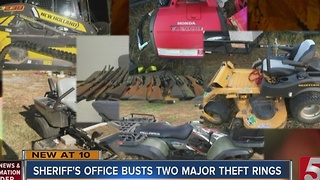 2 Arrested, Property Recovered In Theft Ring Bust - Video