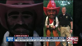 Jenks Police honor one of their own - Video