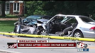One person is dead following a crash on Indy's east side - Video