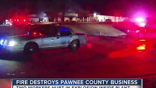 Fire destroys Pawnee county busniess - Video