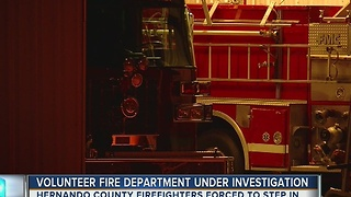 Volunteer fire department under investigation
