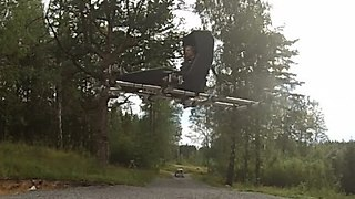 Swedish Man Makes Homemade Flying Vehicle - Video