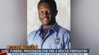 Fallen LVFR firefighter's funeral - Video