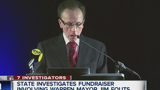 State election officials investigating fundraising at Warren Mayor Jim Fouts's State of the City speech - Video