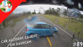 Driver Pulls Out In Front Of 35,000-Pound Truck, And Gets Instant Karma - Dashcam Clip #89