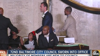 72nd Baltimore City Council sworn into office - Video