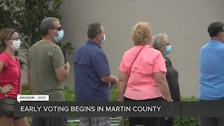 Determined voters dodge rain to cast ballots in Martin County