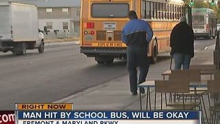 Man struck by CCSD bus on Thursday - Video