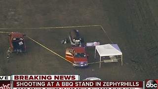 Man shot at roadside BBQ stand in Zephyrhills - Video