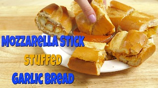 Garlic Bread Mozzarella Stick Sandwich - Video