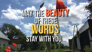 May The Beauty of These Words Stay With You - Video