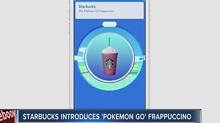 Starbucks introduces Pokemon Go Frappuccino - Video