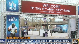 Army vs. Navy game brings crowds, increased security - Video