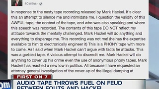 Explosive tapes released in political battle between Mark Hackel, Jim Fouts; Fouts denies it is him - Video
