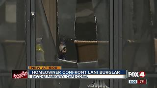 A Cape Coral Homeowner Confronts a Burglar - Video