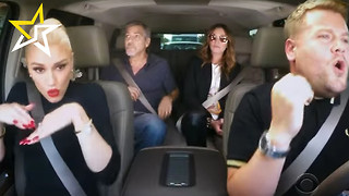 Gwen Stefani Carpool Karaokes With James Corden, George Clooney & Julia Roberts - Video