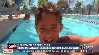 Henderson Professional Fire Fighters promote summer safety - Video