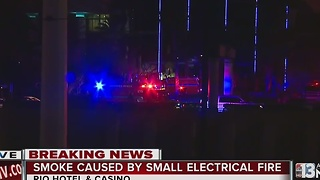 Electrical fire reported at Rio Las Vegas - Video