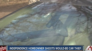 Independence homeowner shoots possible car thief - Video