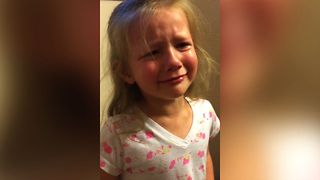 Crying girl explains cat's behavior. Her reasoning is simply priceless! - Video