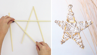 DIY Christmas star from chopsticks - Video