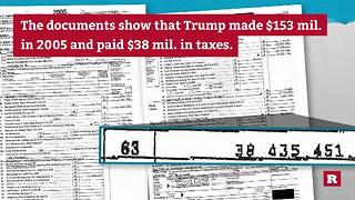 Trump's leaked 2005 tax return | Rare News - Video