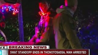 SWAT standoff ends in Thonotosassa, man arrested - Video