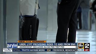 Uber, Lyft providing rides to and from BWI Airport - Video