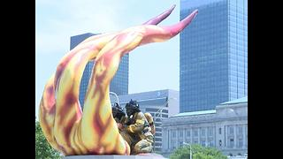 Cleveland firefighters memorial needs repair - Video