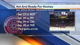 Red Wings set first preseason schedule at Little Caesars Arena - Video